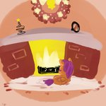 fire fireplace puffpink scootaloo