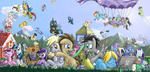 applejack background_ponies balloon berry_punch book cheerilee cloudchaser colt computer derpy_hooves discord filly firefly flitter flowers fluttershy g1 glasses golden_harvest hat limestone_pie lucky_clover lyra_heartstrings main_six marble_pie minuette muffin octavia_melody original_character pie pinkie_pie princess_cadance princess_celestia princess_luna queen_chrysalis rainbow_dash raindrops rarity saturnspace shining_armor siblings soarin spike spitfire surprise sweetie_drops the_great_and_powerful_trixie thunderlane time_turner toothbrush twilight_sparkle vinyl_scratch wild_fire zecora
