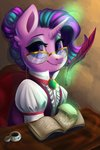 absurdres book clothes faline glasses highres magic quill starlight_glimmer