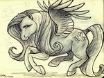 fluttershy highres kisha-rose traditional_art