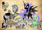 baked_bads bench cauldron costume derpy_hooves hands lyra_heartstrings nightmare_moon octavia_melody shepherd0821 socks soda straw tim_burton zecora