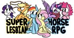 applejack flutterdash fluttershy karpet-shark main_six pinkie_pie rainbow_dash rarity shipping super_lesbian_horse_rpg twilight_sparkle