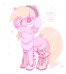 bandage boots derpy_hooves earmuffs mewball scarf winter