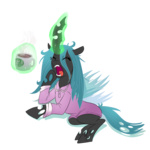 coffee madmax magic pajamas queen_chrysalis