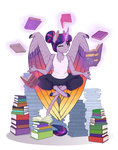 anthro book earthsong9405 highres meditation princess_twilight twilight_sparkle