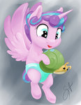 highres princess_flurry_heart silfoe snail toy whammy