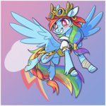 8-xenon-8 clothes earring goggles highres pirate rainbow_dash