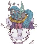 filly insanity kolshica nest queen_chrysalis twilight_sparkle