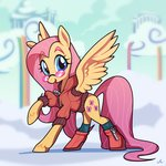 absurdres clothes docwario fluttershy glasses highres