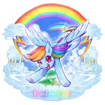 Post 66251, tags: cloudsdale, rainbow_dash, tatugon, rating:Safe, score:8, user:Kraps