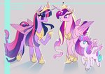 bunniiibabe princess_cadance princess_flurry_heart princess_twilight twilight_sparkle