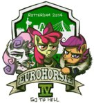 apple_bloom clothes clothing cutie_mark_crusaders eurohorsie_iv logo scootaloo sweetie_belle the_artrix transparent