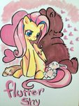 angel bear fluttershy hamster highres luvlymilk