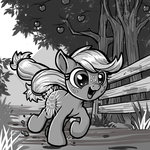 applejack apples filly harwick running tree
