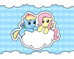 filly fluttershy madmax rainbow_dash wallpaper