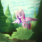 absurdres forest highres pedrohander princess_cadance