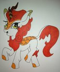 absurdres artking3000 autumn_blaze highres kirin traditional_art