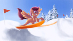 flag newlifer scootaloo skis