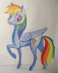 absurdres highres ponsce rainbow_dash traditional_art