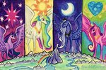 absurdres highres princess_cadance princess_celestia princess_luna princess_twilight sparkleforever traditional_art twilight_sparkle