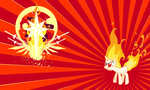 angry evilarcticfox flame_mane on_fire twilight_sparkle wallpaper