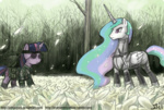 armor crossover eyepatch johnjoseco knife metal_gear_solid naked_snake princess_celestia the_boss twilight_sparkle weapon