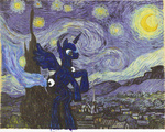 princess_luna the_starry_night thecentipede vincent_van_gogh