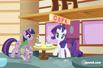 alienfirst coffee rarity spike twilight_sparkle