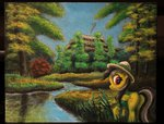 daring-do horseez scenery traditional_art