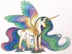 absurdres bloodyblackquiet highres princess_celestia traditional_art
