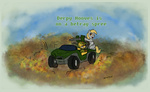 beaverblast car comic crossover derpy_hooves gun halo highres marine ponified weapon
