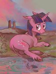classical_unicorn highres pond spectralunicorn twilight_sparkle