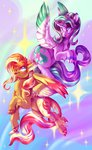 alicorn candychameleon classical_unicorn highres starlight_glimmer sunset_shimmer