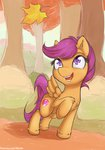 alasou autumn forest highres leaf scootaloo