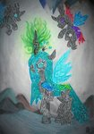 changeling dawn-designs-art highres queen_chrysalis traditional_art