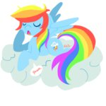 cloud lowres professorsly rainbow_dash