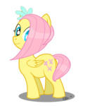 ellisarts filly fluttershy transparent