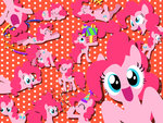 hat hige laughing manecut party_hat pinkie_pie present smile sparkles streamers