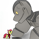 apple_bloom crossover ponified rubrony the_iron_giant vash_(coloring)