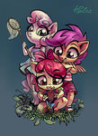 anthro apple_bloom butterfly cutie_mark_crusaders flowers highres holivi net scootaloo sweetie_belle