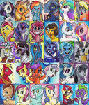 apple_bloom applejack big_macintosh cheese_sandwich chriswithata cutie_mark_crusaders derpy_hooves discord fluttershy king_sombra lyra_heartstrings main_six moondancer nightmare_moon octavia_melody pinkie_pie princess_cadance princess_celestia princess_luna queen_chrysalis rainbow_dash rarity rose scootaloo shining_armor spike sweetie_belle sweetie_drops the_great_and_powerful_trixie time_turner traditional_art twilight_sparkle vinyl_scratch zecora
