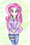 astevenamedwolf equestria_girls fluttershy highres humanized traditional_art