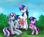 card flowers magic mother's_day nyarmarr parents shining_armor twilight_sparkle twilight_velvet