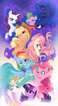 applejack fluttershy highres jumblehorse main_six pinkie_pie princess_celestia princess_luna rainbow_dash rarity spike twilight_sparkle