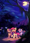 apple_bloom aruurara cutie_mark_crusaders parasprite scootaloo sweetie_belle