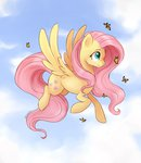 absurdres butterfly fluttershy flying highres kodabomb
