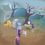 applejack autumn_wrap_up rarity twilight_sparkle vapgames