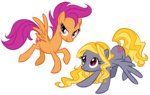grown_up intergalacticrush lily_blossom scootaloo transparent