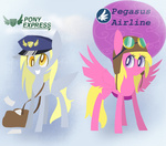 cherry_berry derpy_hooves goggles hat mail mailbag silbersternenlicht wings