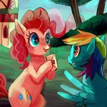 pinkie_pie pinkiedash rainbow_dash shipping xishka